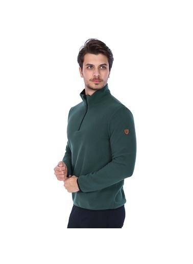 Sportive Polar Sweatshirt Yeşil